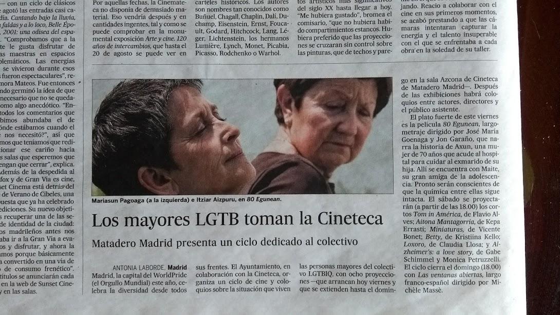 ciclo de cine LGTB Madrid